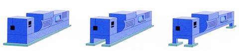 Príklady a spôsoby použitia pre odizolovanie strojov, klimat. jednotiek, bojlerov